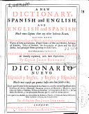 A new dictionary, Spanish and English, and English and Spanish
