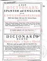 A new dictionary Spanish and english and english and Spanish PDF