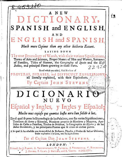 New Spanish And English English And Spanish Dictionary