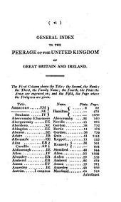 The Peerage of the United Kingdom of Great Britain & Ireland: In Two Volumes. England. 1