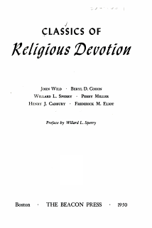 Classics of Religious Devotion Book