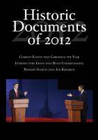 Historic Documents of 2012 PDF
