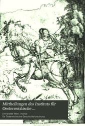 Mittheilungen des Instituts für Oesterreichische Geschichtsforschung: Band 1