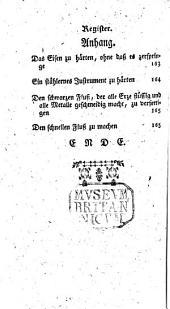 Albaro Alonso Barba ... Docimasie oder Probir- und Schmeltz-Kunst ... Aus dem Frantzösischen ... übersetzt, und ... heraus gegeben von Matthia Godar. Mit ... Kupfern versehen