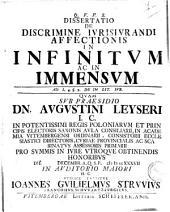 De discrimine iurisiurandi affectionis in infinitum ac in immensum ...
