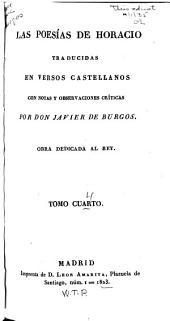 Las poesías de Horacio: Volume 4