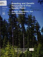 Breeding and Genetic Resources of Five needle Pines PDF