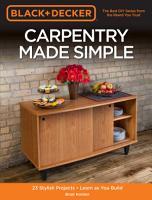 Black   Decker Carpentry Made Simple PDF