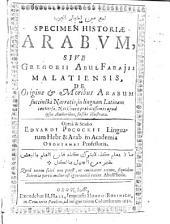 Specimen historiae Arabum
