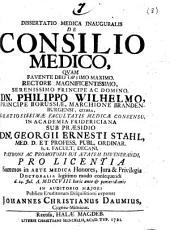 Dissertatio medica inauguralis De consilio medico