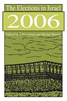 The Elections in Israel 2006 PDF