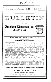 Bulletin of the American Pharmaceutical Association: Volumes 1-2