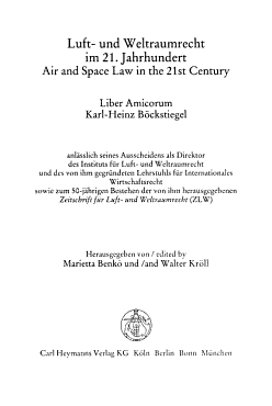 Air and space law in the 21st century PDF