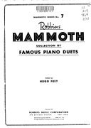 Robbins mammoth collection of famous piano duets PDF