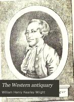The Western Antiquary PDF