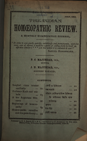 The Indian Homoeopathic Review: Volume 11