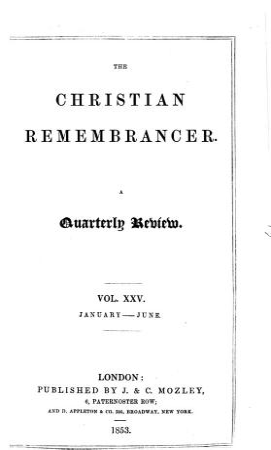 The Christian Remembrancer PDF