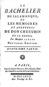 Le Bachelier de Salamanque, ou les memoires et aventures de Don Cherubin de La Ronda: Volume2