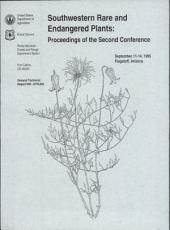 Southwestern Rare and Endangered Plants: Proceedings of the Second Conference