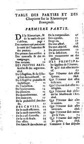 La Rhétorique françoise...