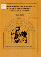 A Survey of Projection Activities of Selected Planning Agencies in the State of Illinois PDF