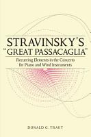 Stravinsky s  Great Passacaglia  PDF