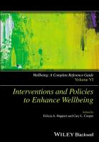 Wellbeing  A Complete Reference Guide  Interventions and Policies to Enhance Wellbeing PDF