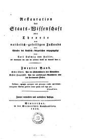 Restauration der Staats-Wissenschaft: 1.T. Von den Fürstentümern oder Monarchien, 1. Hauptstück : Von den unabhängigen Grundherren oder den Patrimonial-Fürsten