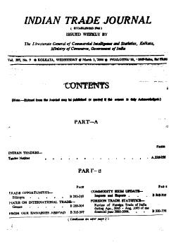 Indian Trade Journal PDF
