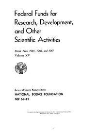 Federal Funds for Research  Development  and Other Scientific Activities PDF