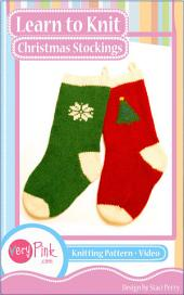 Learn to Knit Christmas Stockings
