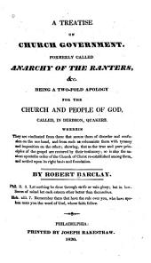 A Treatise on Church Government