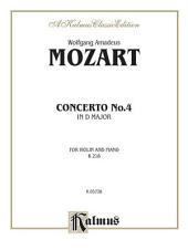 Violin Concerto No. 4, K. 218: String - Violin and Piano