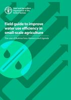Field guide to improve water use efficiency in small scale agriculture PDF