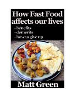 How Fast Food Affect Our Life   And What We Can Do About It   Healthy Series PDF