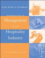 Introduction to Management in the Hospitality Industry  Study Guide PDF