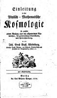 Einleitung in die Physisch Mathematische Kosmologie0 PDF