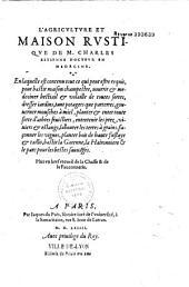 L'Agriculture et maison rustique de M. Charles Estienne... Plus vn bref recueil de la Chasse & de la Fauconnerie