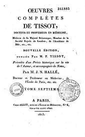 Oeuvres complètes de Tissot,...