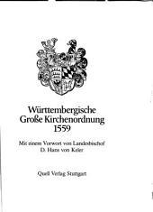 Württembergische Große Kirchenordnung 1559