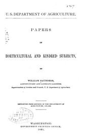 Papers on Hortcultural and Kindred Subjects