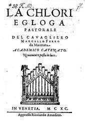 La Chlori, Egloga Pastorale
