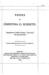 Verses by Christina G. Rossetti