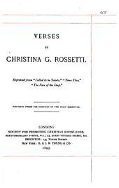 Verses by Christina G. Rossetti