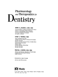 Pharmacology and Therapeutics for Dentistry PDF
