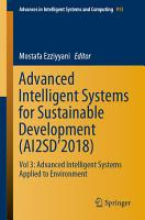 Advanced Intelligent Systems for Sustainable Development  AI2SD   2018  PDF