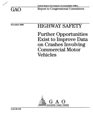 Highway Safety: Further Opportunities Exist to Improve Data on Crashes Involving Commercial Motor Vehicles