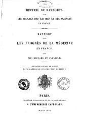 Rapport sur les progres de la medecine en France par Beclard et Axenfeld