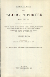 The Pacific Reporter: Volume 87