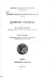 Rapport général: Volume1